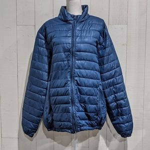 Smash Blue Winter (not so puffy) Puffer Coat